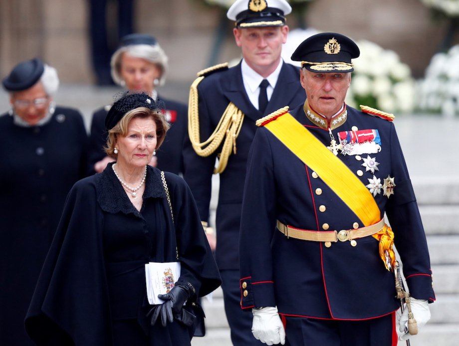 King Harald, Queen Sonja and Princess Astrid attended the funeral of the Grand Duke. Photo: REUTERS/Francois Lenoir.