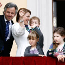Princess Märtha Louise and Ari Behn were on the Palace Balcony with their three daughters (Photo: Lise Åserud / NTB scanpix)