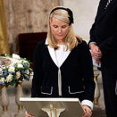 Crown Princess Mette-Marit read from the Gospel According to Matthew as part of the ceremony (Photo: Tor Richardsen / Scanpix)