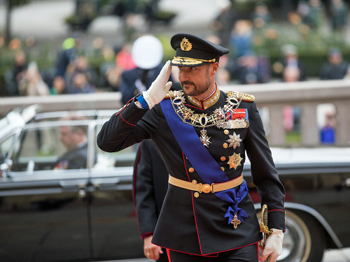 The Crown Prince Regent arrives for the opening of the 165th Storting. Photo: Morten Brakestad / Stortinget