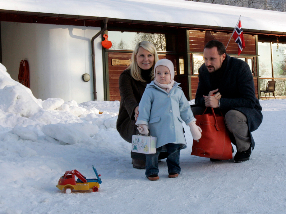 The Princess began attending a day-care centre on 4 January 2006. Photo: Lise Åserud, NTB scanpix.