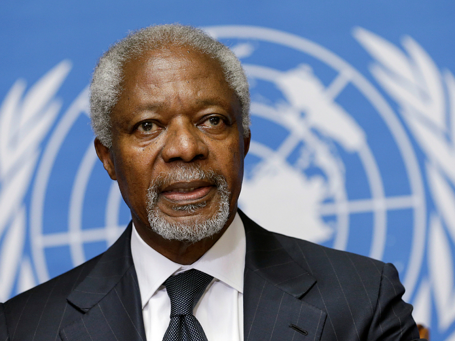 Kofi Annan served as the seventh Secretary-General of the UN. Photo: Denis Balibouse, Reuters / NTB scanpix.