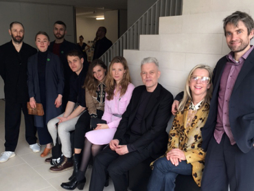 Norwegian artists awaiting their meeting with Queen Sonja and President Hollande. Photo: Marianne Hagen, the Royal Court.