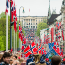 The Children's Parade headed for the Royal Palace. Photo: Fredrik Varfjell / NTB scanpix