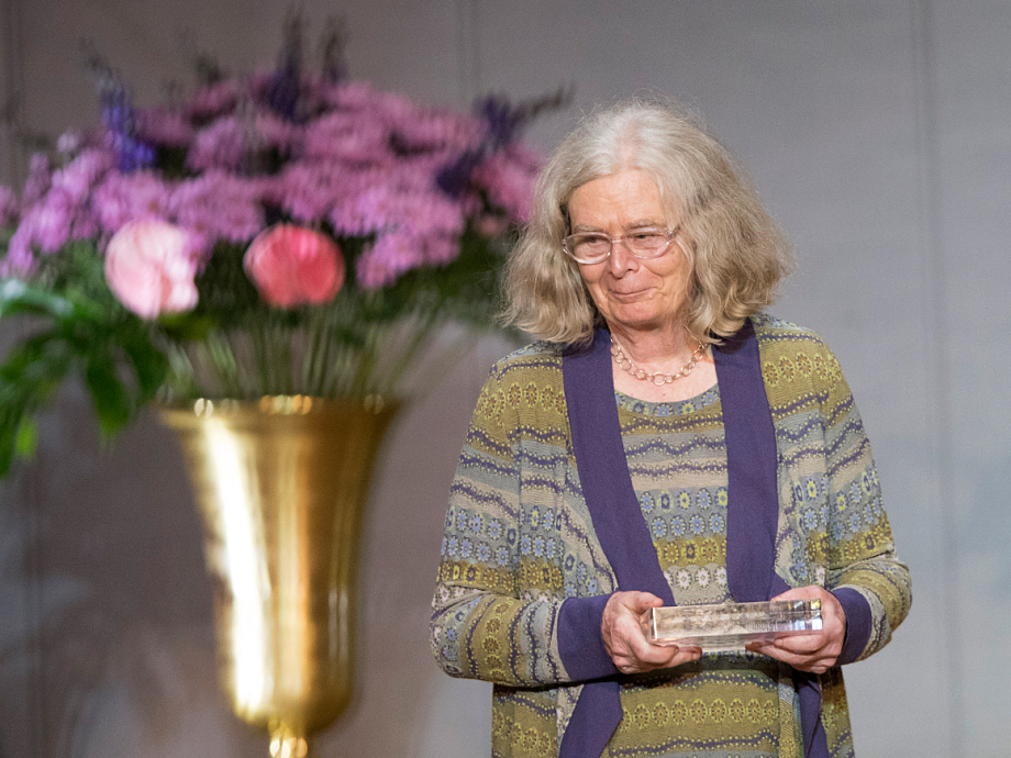 Karen Uhlenbeck is the first woman to win the Abel Prize since it was first awarded in 2003. Photo: Terje Bendiksby / NTB scanpix.