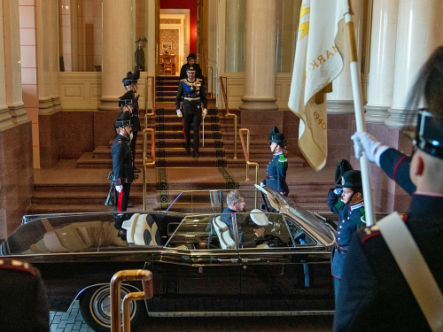The Crown Prince Regent and The Queen depart for the opening of the 165th Storting. Photo: Simen Løvberg Sund, The Royal Court