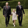 Three generations 2012: King Harald, Crown Prince Haakon and Princess Ingrid Alexandra. Photo: Julia Marie Naglestad / The Royal Court