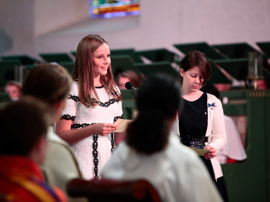 Princess Ingrid Alexandra read a passage of text during the service. Photo: Lise Åserud / NTB scanpix
