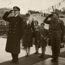 King Haakon returns to Norway 7 June 1945. Photo: the Royal Collections.