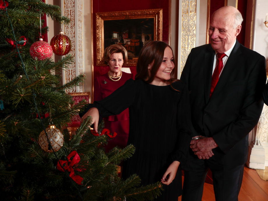 Christmas photos from the Royal Palace. Photo: Lise Åserud, NTB scanpix
