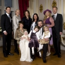 Official picture on the occation on the christening of Miss Emma Tallulah Behn. Godparents from the left: Carl Christian Christensen, HRH The Crown Princess, HRH Princess Alexia, Marianne Solberg Behn, Anbjørg Sætre Håtun and Sigvart Dagsland. Photo: Bjørn Sigurdsøn, The Royal Court / Scanpix. Hand out pictures from The Royal Court - Only for editorial use - not for sale. Size 2,78 Mb, 3606 x 2406 px.
