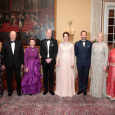 Princess Märtha Louise, King Harald, Queen Sonja, Prince William, Duchess Catherine, Crown Prince Haakon, Crown Princess Mette-Marit and Princess Astrid, Mrs Ferner gathered for dinner. Photo: Lise Åserud / NTB scanpix