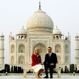 Tuesday, The Crown Prince and Crown Princess went on to Agra and Taj Mahal (Photo: Lise Åserud, Scanpix)