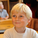 Prince Sverre Magnus on his first day of school (Photo: Sven Gjeruldsen, Det kongelige hoff)