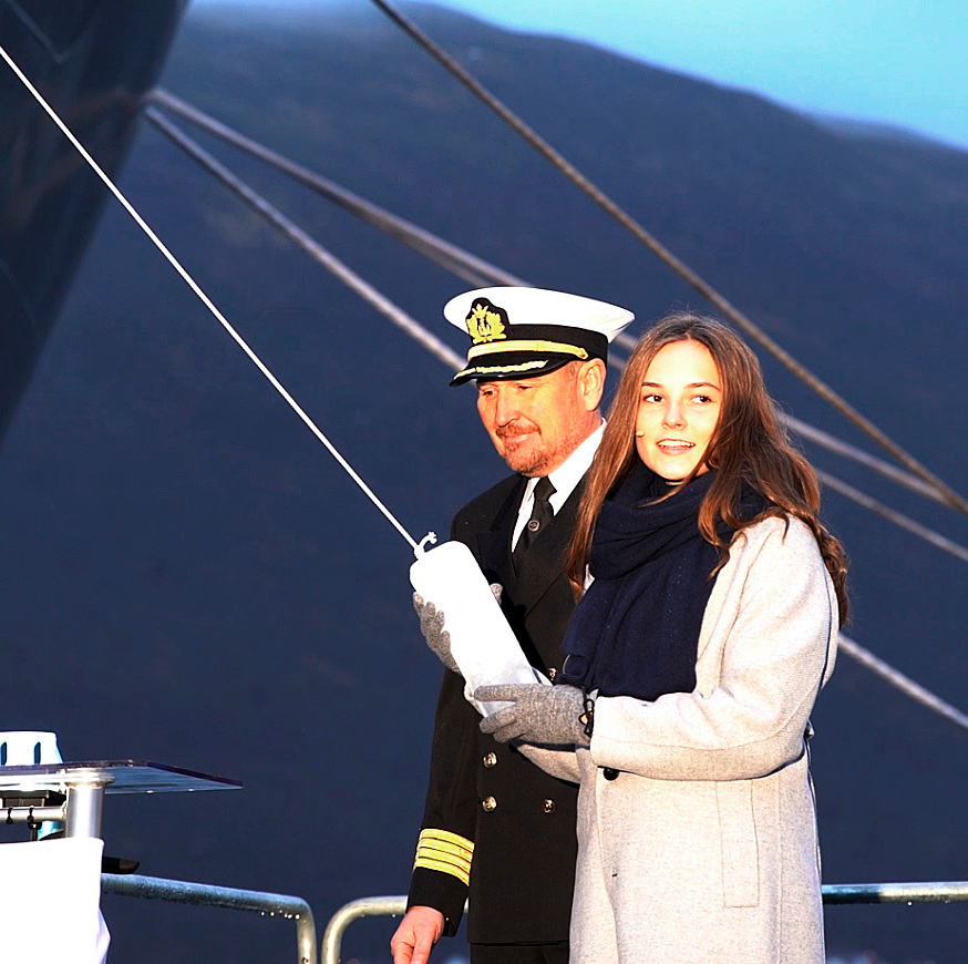 The Princess christened the Kronprins Haakon