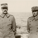 King Haakon and Crown Prince Olav on board the Devonshire headed for England (Photo: The Royal Court Photo Archives)