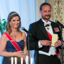 Crown Prince Haakon and Princess Märtha Louise gave a speech to their parents. Photo: Heiko Junge / NTB scanpix