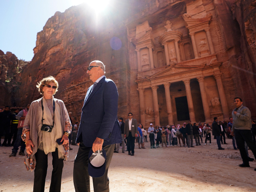 "Petra is also called ""The Rose City"" due to the colour of the stone into which it is carved. Photo: Heiko Junge, NTB scanpix"