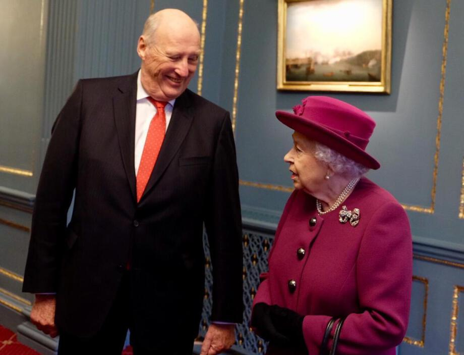 Queen Elizabeth and King Harald are both patrons of the Anglo-Norse Society. Photo: The Royal Court, UK