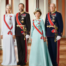 Their Majesties The King and Queen, Their Royal Highnesses The Crown Prince and Crown Princess. Handout picture from the Royal Court published 15.01.2016. For editorial use only, not for sale. Photo: Jørgen Gomnæs / The Royal Court.