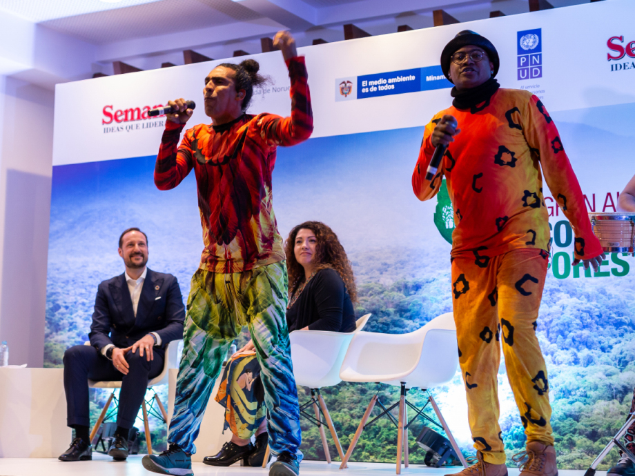 The members of the Systema Solar dance music collective are goodwill ambassadors of the alliance and are now touring Colombia to spread awareness about deforestation. Photo: FN-sambandet / Eivind Oskarson.