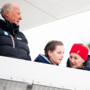 The traditional ski jumping competition in Holmenkollen 12 March. The Royal Family is in attendance as always. Photo: Jon Olav Nesvold, NTB scanpix