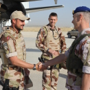 Crown Prince Haakon visited Norwegian troops in Afghanistan August 2009. Is welcomed by Lieutenant colonel Ivar Omsted. Hand out picture from The Royal Court. For editorial use only - not for sale. Picture size: 3744 x 5616 px, 5,30 Mb (Photo: Norwegian Armed Forces)