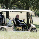 The Governor-General and Lady Cosgrove took The King and Queen on a short kangaroo safari in the grounds surrounding Government House. Photo: David Gray, Reuters / NTB scanpix