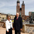 King Harald and Queen Sonja at the concluding press meeting in Krakow (Photo: Lise Åserud / NTB scanpix)