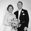 The wedding took place 12 January 1961 (Photo: NTB / Scanpix)